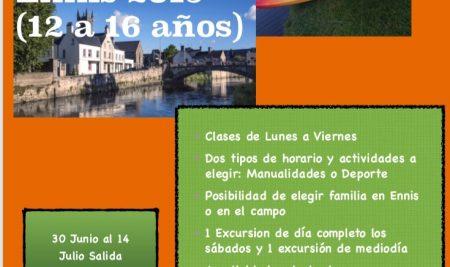 Campamento de verano en Ennis del 30 Junio al 14 Julio